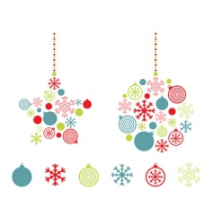 Red blue and green decorations vector