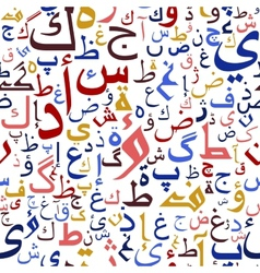 Arabic seamless script pattern vector