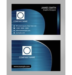 Creative business cards vector