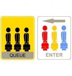 Queue and enter vector
