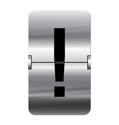 Alphabet silver flipboard letters exclamation vector