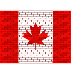 Canadian brick wall vector