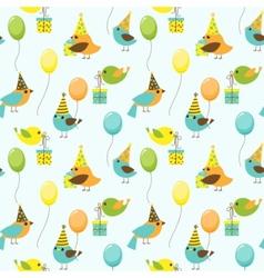 Party birds pattern vector
