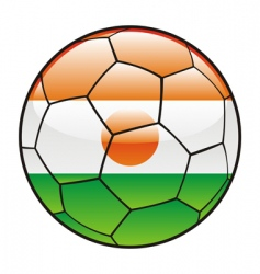 Niger flag on soccer ball vector