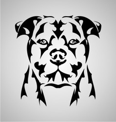 Dog face abstract vector
