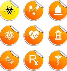 Medical stickers vector