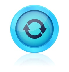 Blue update button vector