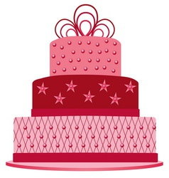 Pink cake vector