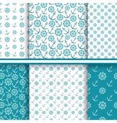 Set of seamless sea patterns vector