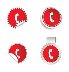 Telephone sticker vector