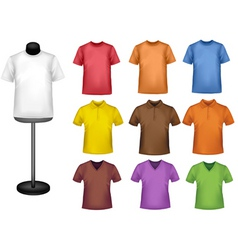 Shirts with mannequins vector