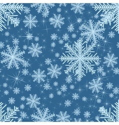 Abstract seamless with snowflakes christmas vector