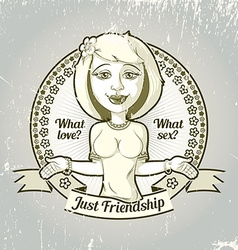 Housewife friendship emblem vector