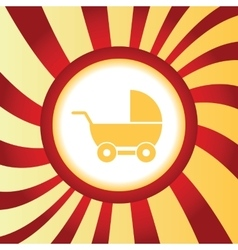 Pram abstract icon vector