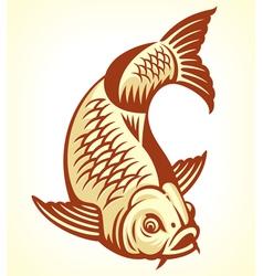 Carp fish cartoon vector