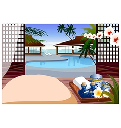 Indoor swimming pool vector