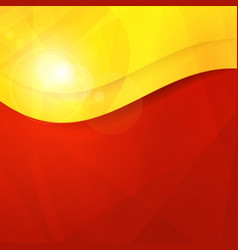 Abstract red yellow orange design template vector