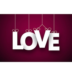 Paper love sign vector