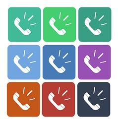 Phone call flat icon vector