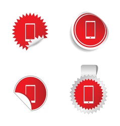 Telephone sticker red vector