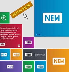 New icon sign metro style buttons modern interface vector
