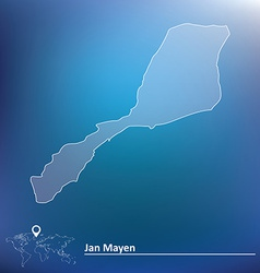 Map of jan mayen vector