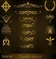 Graphics elements vector