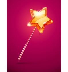 Fairytale magic wand with vector