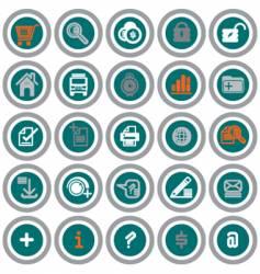 Web icons circles vector