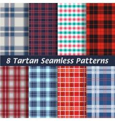 Set of tartan squared seamless abstract vector