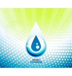Water drop background vector
