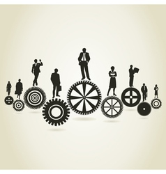 Business a gear wheel vector
