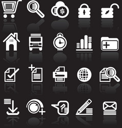 Essential web style icons vector