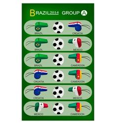 Soccer tournament of brazil 2014 group a vector