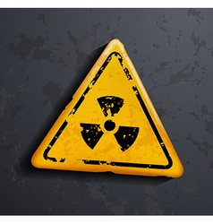 Danger sign of radioactivity vector