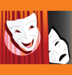 Comedy and tragedy symbols vector