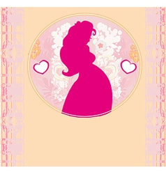 Baby shower cartoon invitation - silhouette of vector