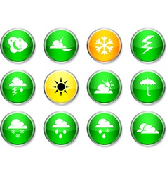 Weather round icons vector