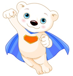 Super polar bear vector