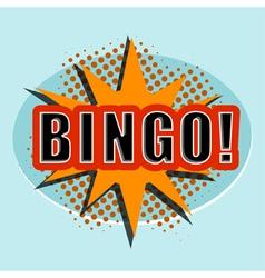 Cartoon bingo design element for the site vector