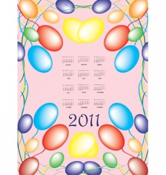 Annual calendar for 2011 vector