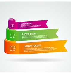 Number list ribbon roll strip colored element set vector