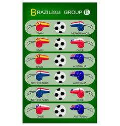Soccer tournament of brazil 2014 group b vector