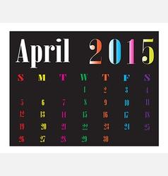 Calendar april 2015 vector