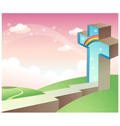 Path to christianity vector