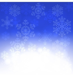 Christmas card with glowing snowflakes vector