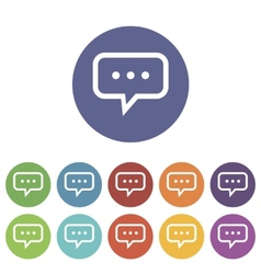 Talk flat icon vector