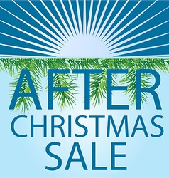 After christmas sale background vector