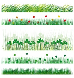 Of strips of grass and leaves vector illustr vector