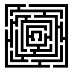 Rectangle maze izolated on white2 vector